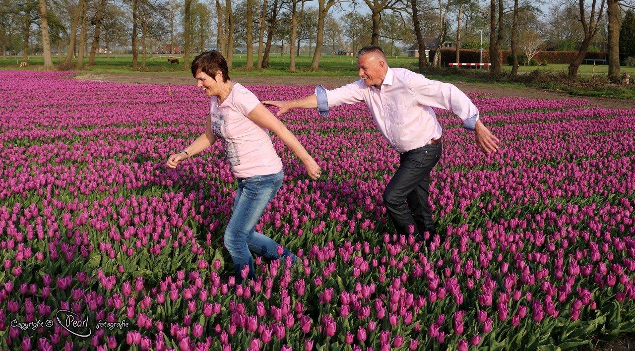Jaap & Diny in de tulpen